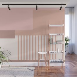 Sol Abstract Geometric Print in Pink Wall Mural