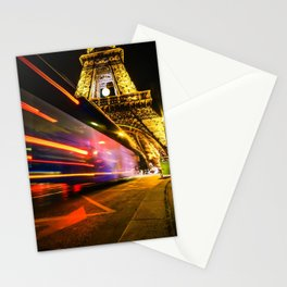 City Lights; Eiffel Tower Stationery Cards