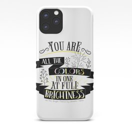 All The Bright Places by Jennifer Niven Book Quote Typography iPhone Case