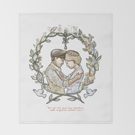 "Illustration from the video of the song by Wilder Adkins, ""When I'm Married"" (no names on it) Throw Blanket"