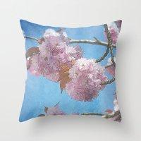carpe diem Throw Pillows featuring carpe diem by Angela Bruno