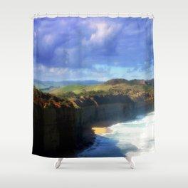 Southern Ocean Headlands Shower Curtain