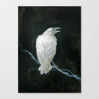 raven Canvas Prints featuring Raven by Jana Heidersdorf Illustration