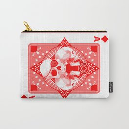Skull Ace of Diamonds Carry-All Pouch