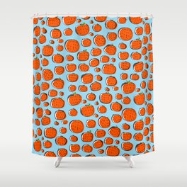Naranjas de invierno Shower Curtain