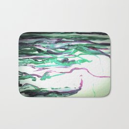 Abstract Waterfall Acrylic Painting Bath Mat