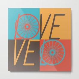 Love velo - velo love; cycling design Metal Print