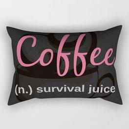 COFFEE: survival juice Rectangular Pillow