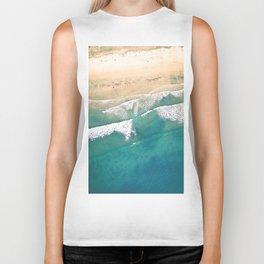 Turquoise Sea Beach Biker Tank