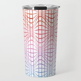 Straight and curved lines - Optical Game 19 Travel Mug