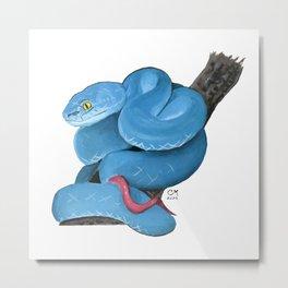 Watercolor snake Metal Print
