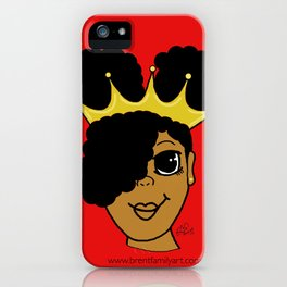 Royalty (red) iPhone Case