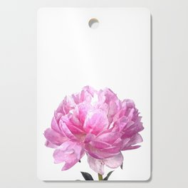 Pink peony illustration Cutting Board