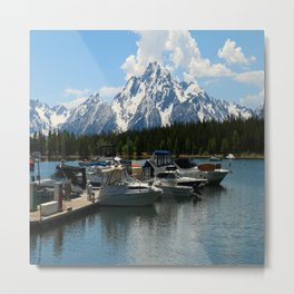 Pleasure Crafts on Jackson Lake Metal Print