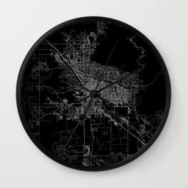 tucson map Wall Clock