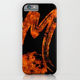 Burning on Fire Letter M iPhone Case
