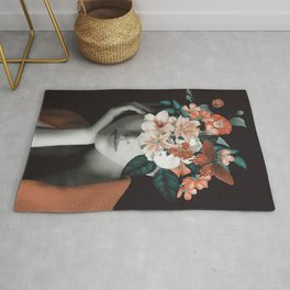WOMAN WITH FLOWERS 7 Rug
