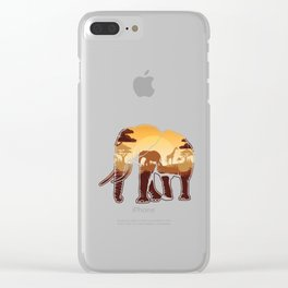 Elephant Safari Animals Zoo Zookeepers Rescue Animal Nature Veterinarian Forest Gift Clear iPhone Case
