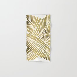 Tropical Banana Leaves – Gold Palette Hand & Bath Towel
