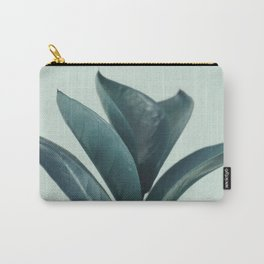 Teal Mint Plant Carry-All Pouch