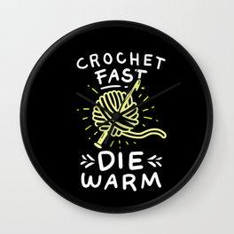 Crocheting - Crochet Fast Die Warm Wall Clock