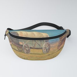 12,000pixel-500dpi - Samuel Colman - Drawing, Study, Covered Wagons - Digital Remastered Edition Fanny Pack