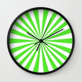 Lime Green Rays Wall Clock
