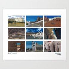 Desert Postcards Art Print