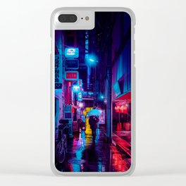 Tokyo Nights / Minutes To Midnight / Liam Wong Clear iPhone Case