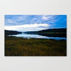 Blue Lake at Dusk Canvas Print