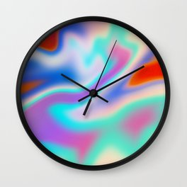 Holographic Abstract Neon Wall Clock