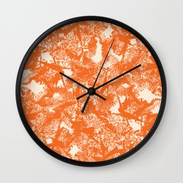 Minimal Shapes Peach Orange Skintones Abstract Pattern Digital Art Print Art Print Wall Clock