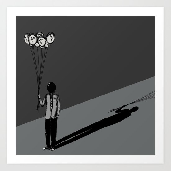 The Black Balloon Art Print