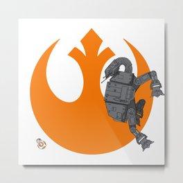 Droid Eek! (orange) - BB8 and AT-AT Standoff Metal Print