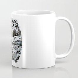 """Opening Day"" Fly Fishing Art, Original Fishing Drawing, Mountain River Stream Coffee Mug"
