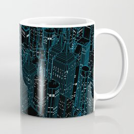 Night light city / Lineart city in blue Coffee Mug