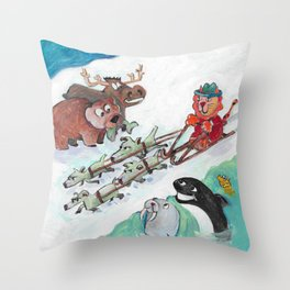 Alaska Cats Throw Pillow