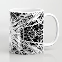 Dark Abstract Art, Marble, Mandala, Kaleidoscope, Surreal, Modern, Black and White Coffee Mug