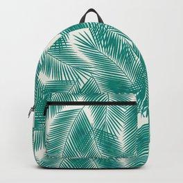 Green Tropical Palm Leaves Backpack