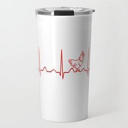 CHICKEN HEARTBEAT Travel Mug