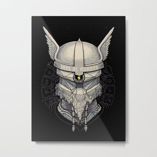 Viking robot Metal Print