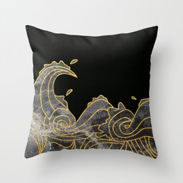 Abstract Wave 2 Throw Pillow