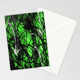 Green Graffiti  Stationery Cards