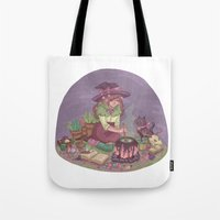 witch Tote Bags featuring Witch by Kayla Miller