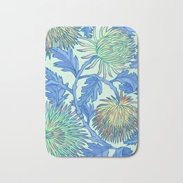 Moonlit Chrysanthemum Bath Mat