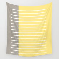writing Wall Tapestries featuring Writing Lines by In Sight