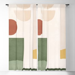 Abstract Art / Shapes 34 Blackout Curtain