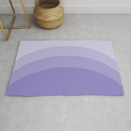 Four Shades of Lavender Curved Rug