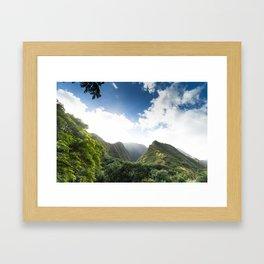 Iao Valley Mist // Horizontal Framed Art Print