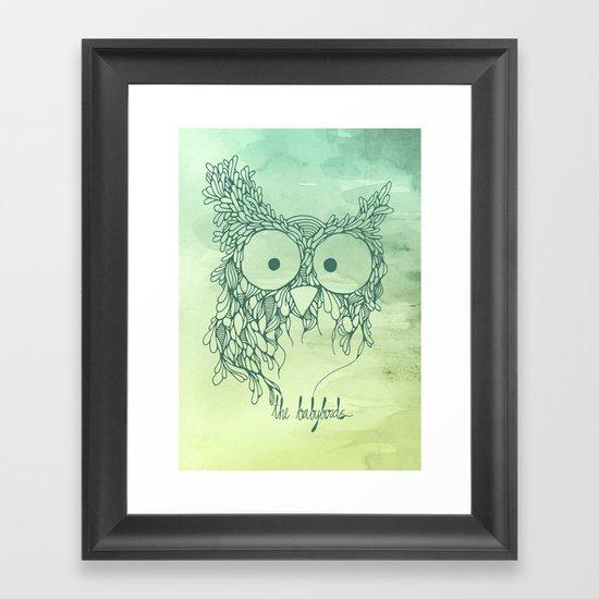 The Babybirds Owl 02 Framed Art Print